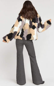 Show Me Your MuMu Jacket Large / Mineral / MR9-3045 Kravits Faux Fur Jacket Mineral