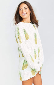 Show Me Your MuMu Sweater Varsity Sweater Pineapple Paradise Knit