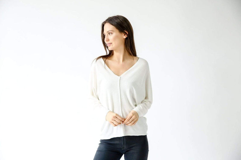 Six Fifty Tee Casuals Small / White / SF359 Crepe Hacci Dolman Ivory