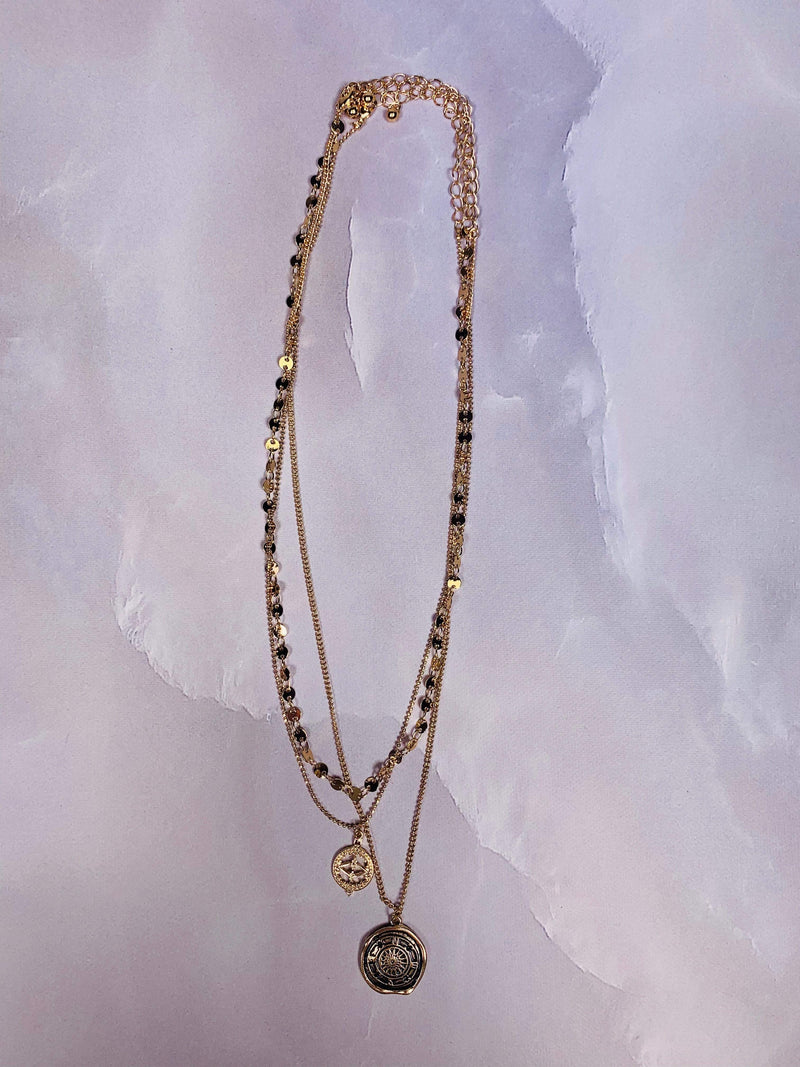 Calypso Layered Necklaces Gold