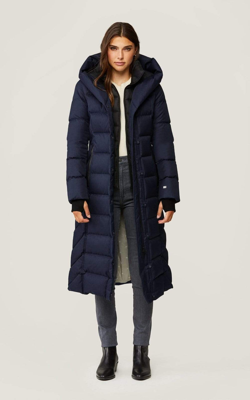 SOIAKYO Outerwear Talyse Hooded Coat Lapis