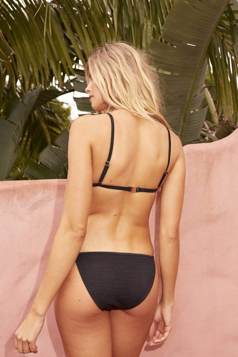 SomeDays Lovin Swim Large / Black / IW18S1036 Burning Skies Bikini Bottoms Black