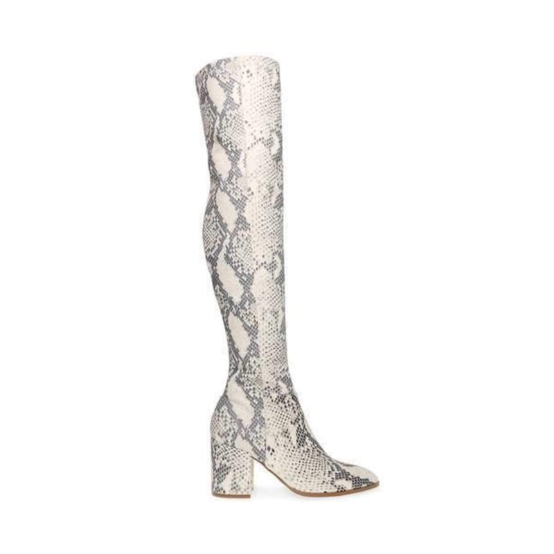 Jacey Thigh High Boot Natural Snake
