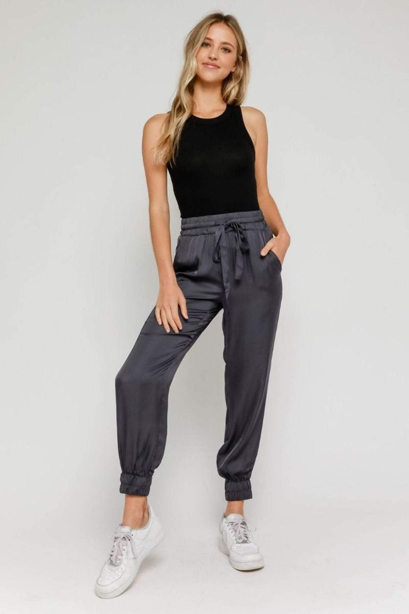 Stone & Salt Pants Jaxson Satin Jogger Navy