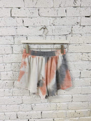 Stone & Salt Shorts Rhea French Terry Tie Dye Shorts Grey Multi
