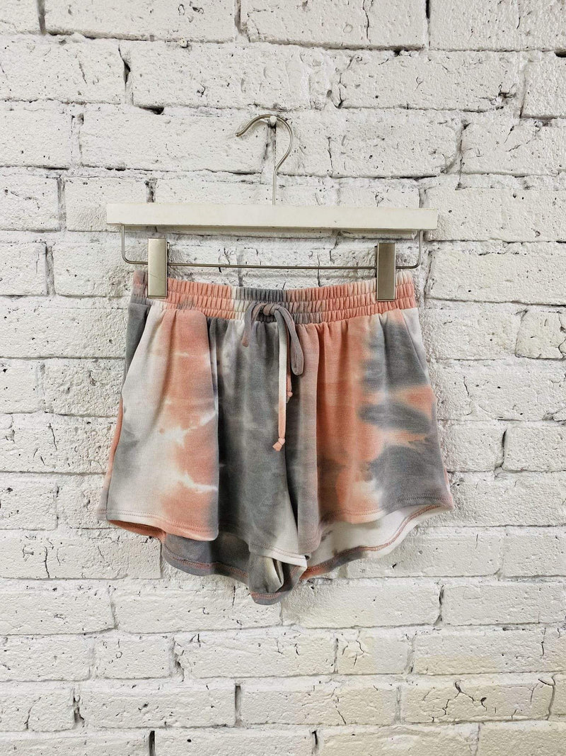 Stone & Salt Shorts Small / Grey Multi / 0195-3664-1 Rhea French Terry Tie Dye Shorts Grey Multi