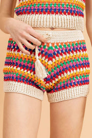 Stone & Salt Shorts Small / Multi / MSW8365 Laina Crochet Shorts Multi
