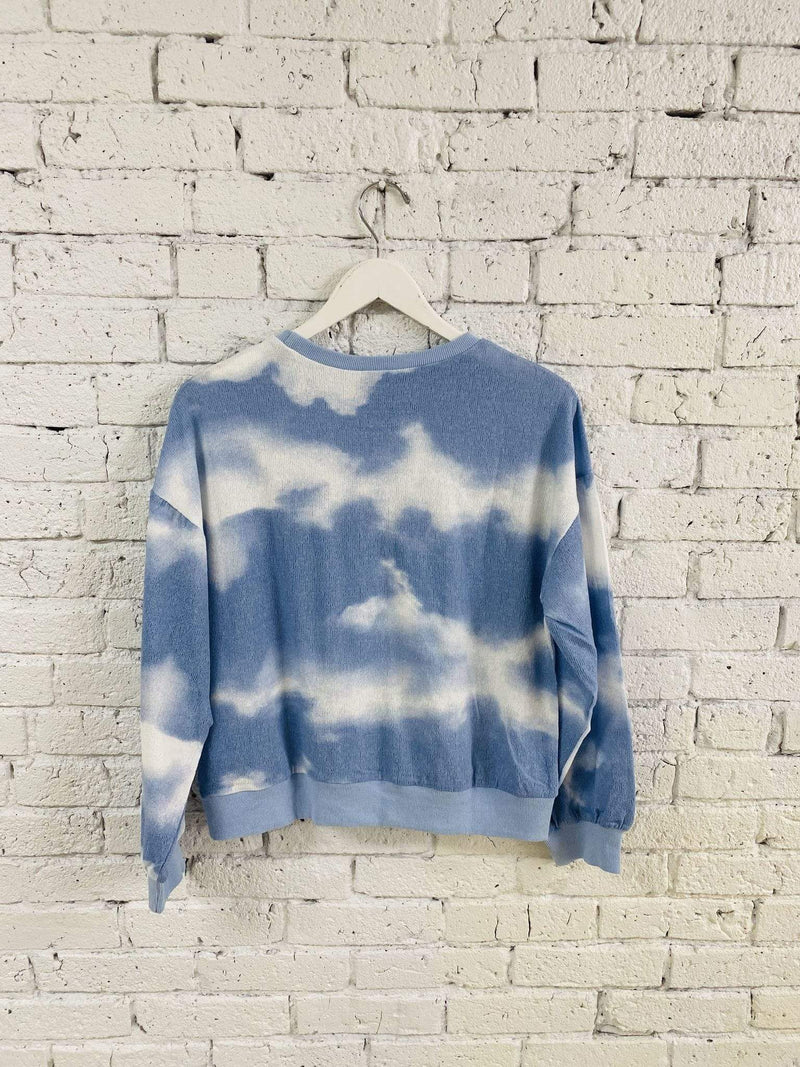 Stone & Salt Tee Casuals X Small / Blue / 0740-7445-1 Oliver Tie Dye Crewneck Blue