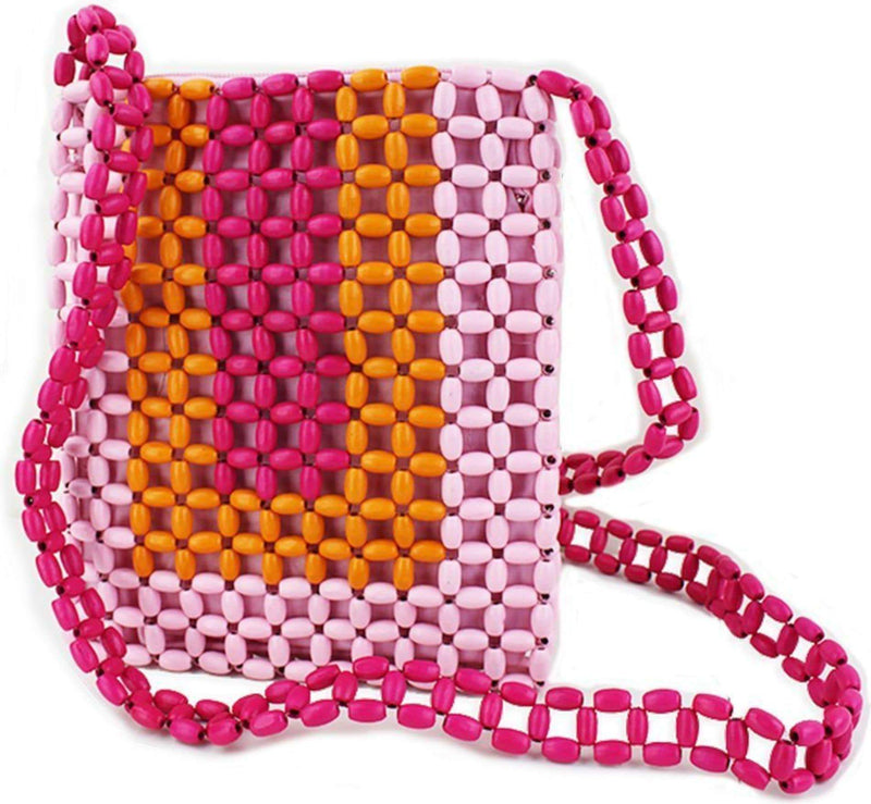 Street Level / Triple 7 Global Inc Bag One Size / Pink / SL667-PINK Polly Beaded Crossbody