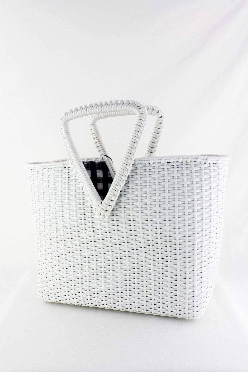 Street Level / Triple 7 Global Inc Bag One Size / White / OBEROI Oberoi Straw Tote White