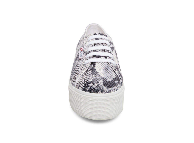 Superga Shoes Size 10 / White Multi / 2790- Snake Python Platform Sneaker