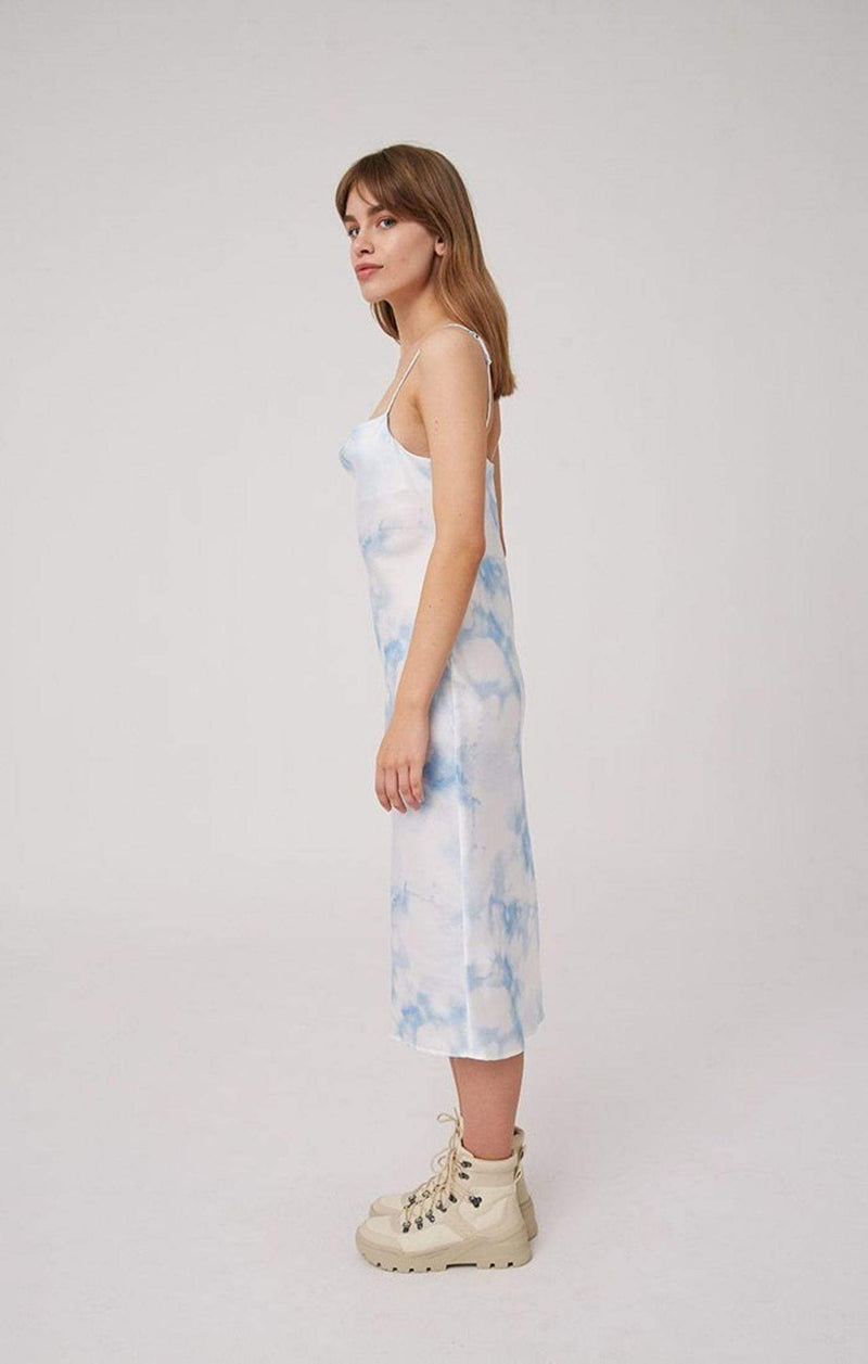 The Fifth Dress Sound Tie Dye Midi Dress Blue