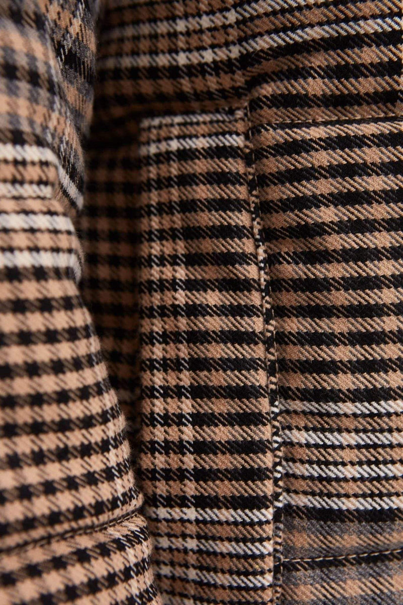 The Fifth Jacket Scale Check Jacket Tan/Black