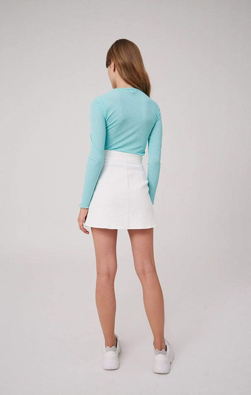 The Fifth Skirt Faded Mini Skirt Ivory