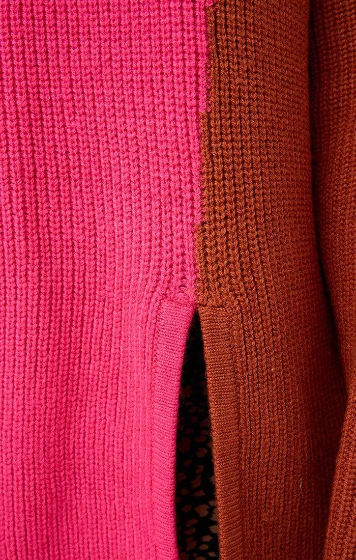 The Fifth Sweater Fiction Knit Sweater Pink/Tan