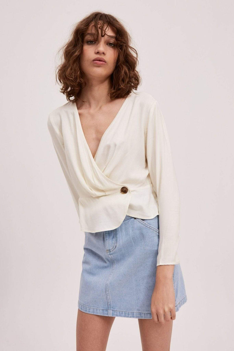 The Fifth Tops Blouse Large / Ivory / 40190988 Quartet Top Ivory
