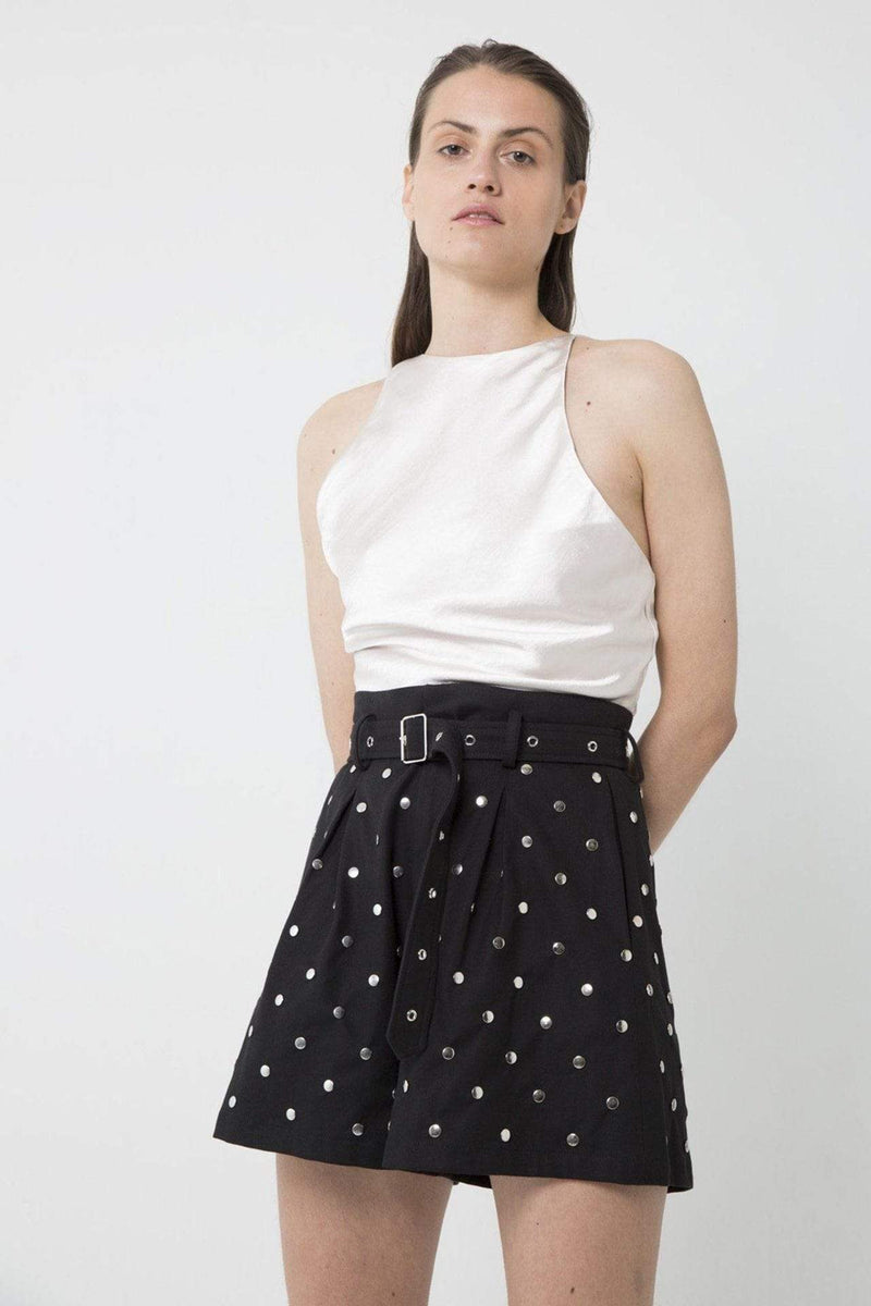 Studded Short Black