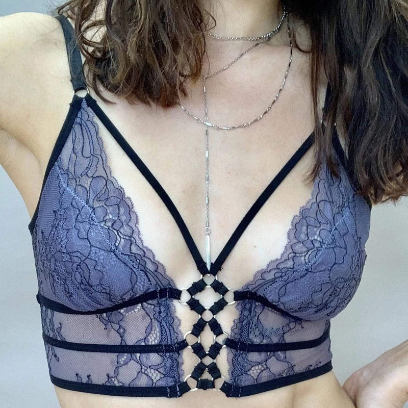 Constellation Bralette Graphite