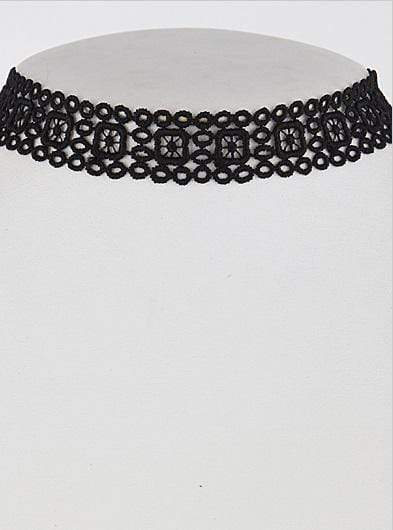 Circle and Flower Choker