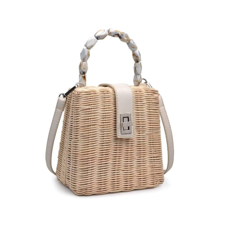 Urban Expressions Bag One Size / Beige/Cream / 21834 Somerset Woven Crossbody Beige/Cream