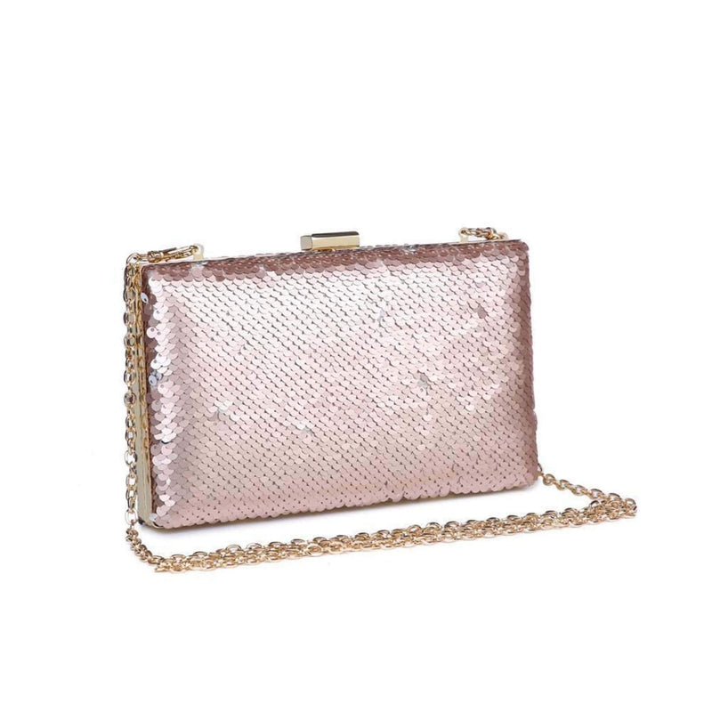 Urban Expressions Bag One Size / Rose Gold / 18391 Diana Box Clutch Rose Gold