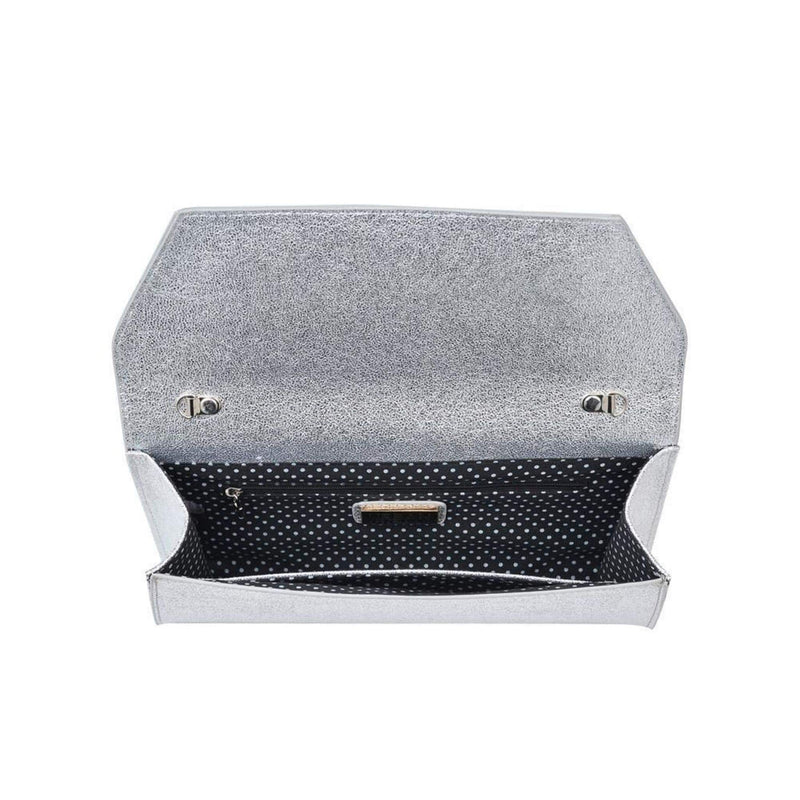 Urban Expressions Bag One Size / Silver / 12285A Electra Metallic Clutch Silver