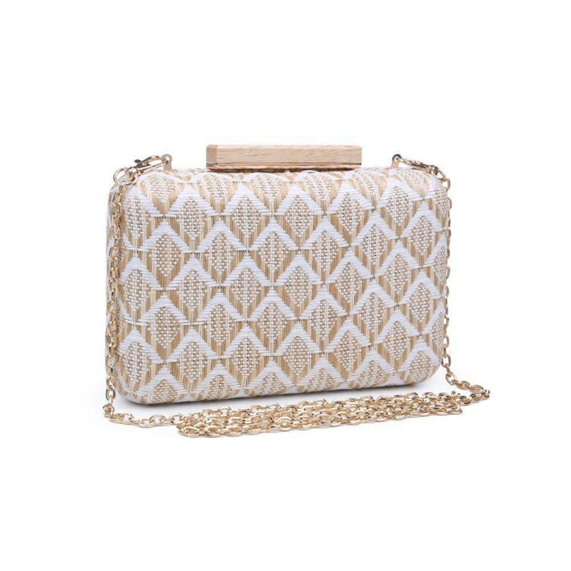 Urban Expressions Bag One Size / White/Natural / 30091 Cicley Raffia Clutch White/Natural