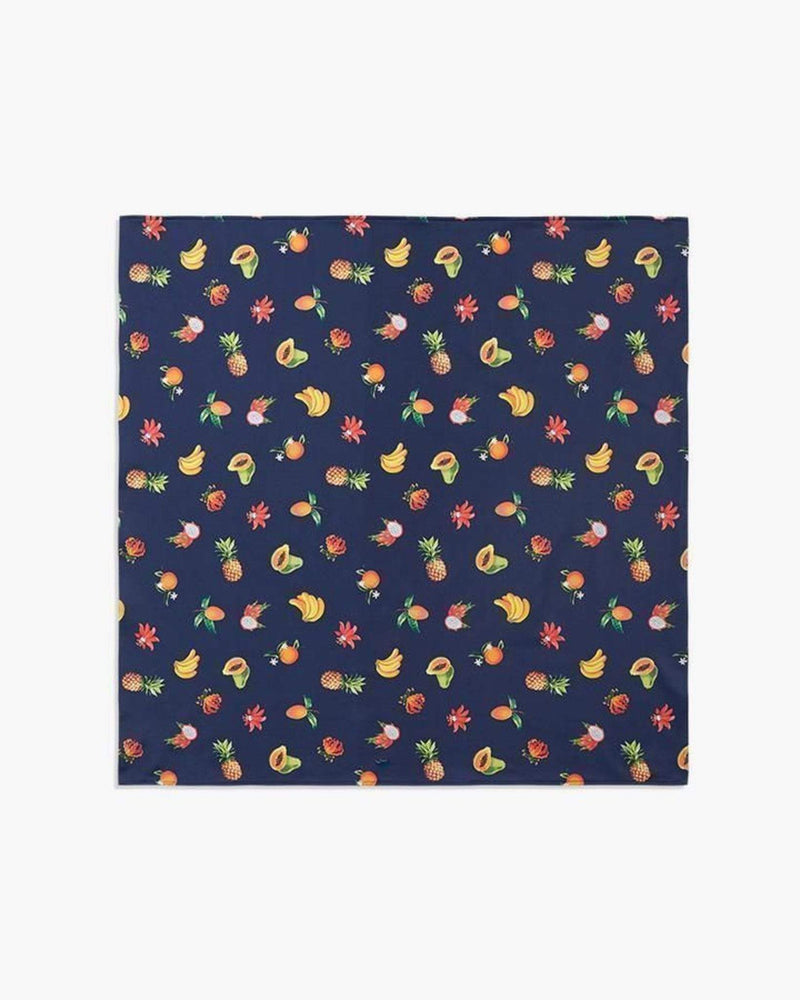 We Wore What Accessories One Size / Multi / WWAC01-6 Blue Fruits Depth Bandana Multi