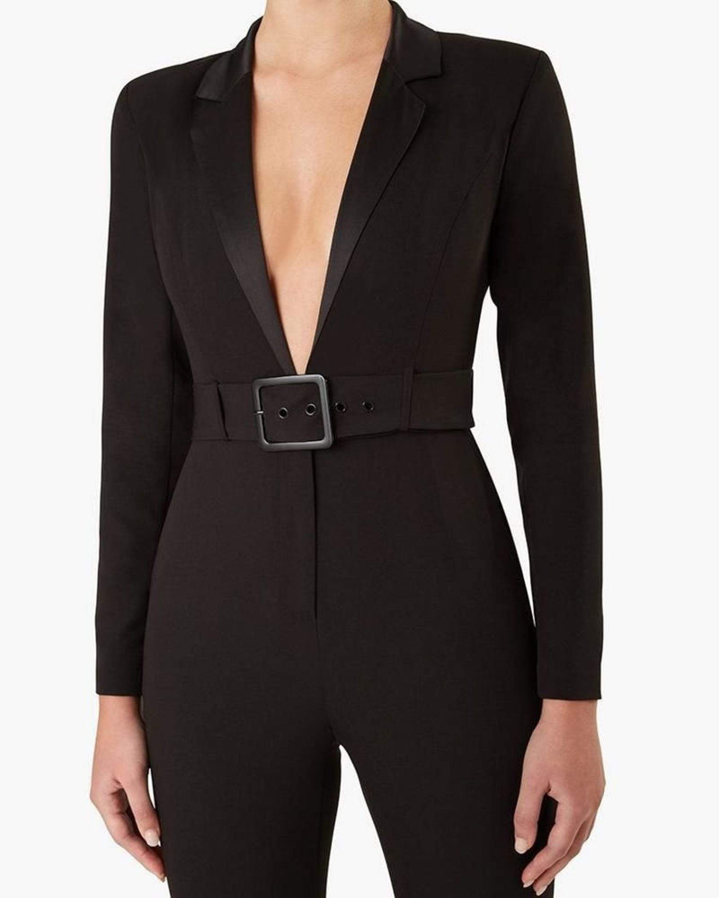 We Wore What Dress Blazer Jumpsuit Black