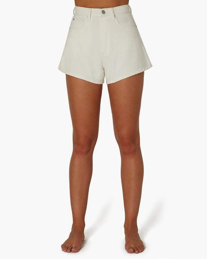Vintage White High Rise Denim Shorts