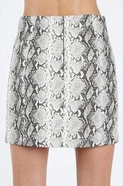 Wild Honey Skirt Isabella Snake Skin Grey