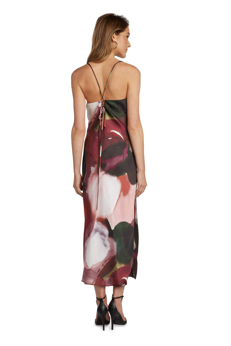 WILLOW AND CLAY Dress Printed Slip Dress Multi