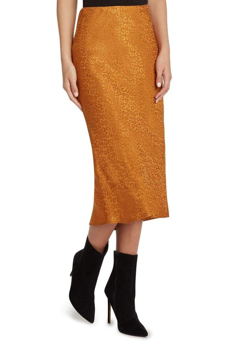 WILLOW AND CLAY Skirt Jacquard Bias Skirt Amber