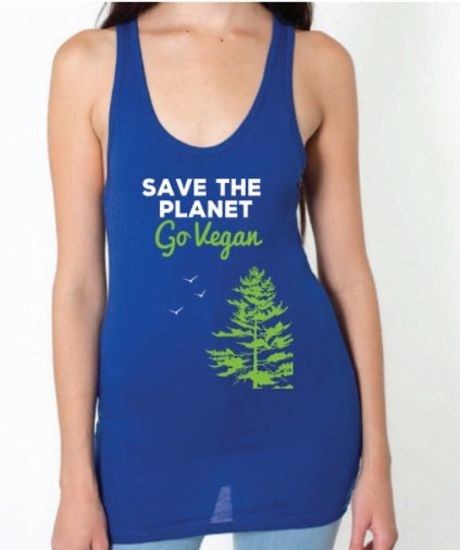 Climate Vegan Save the Planet Unisex tank
