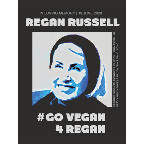 ** NEW ** Go Vegan For Regan Stickers