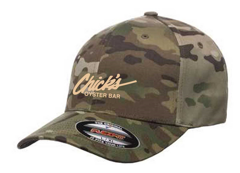 Chick's Logo Green Multi Camo Hat