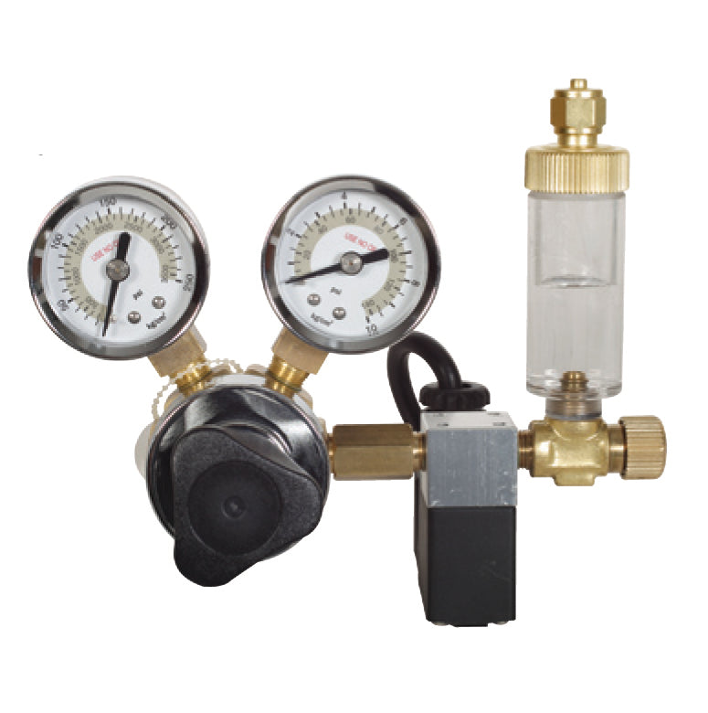 CO2 Regulator with Bubble Counter