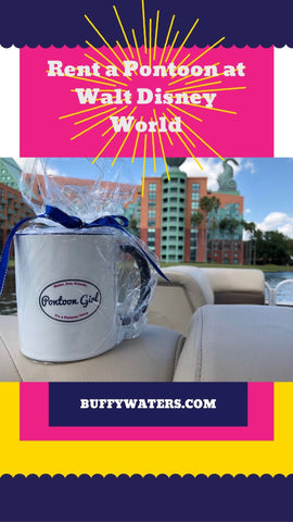 pontoon girl rent a boat at Walt Disney World
