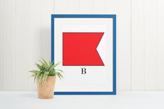 Nautical Code Flag Letter B - Instant Download - printable