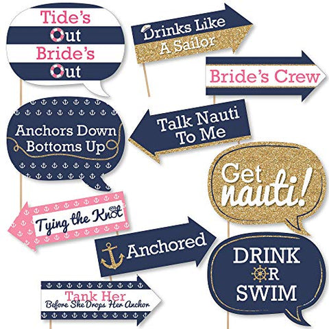 Nautical Bachelorette Party Signs