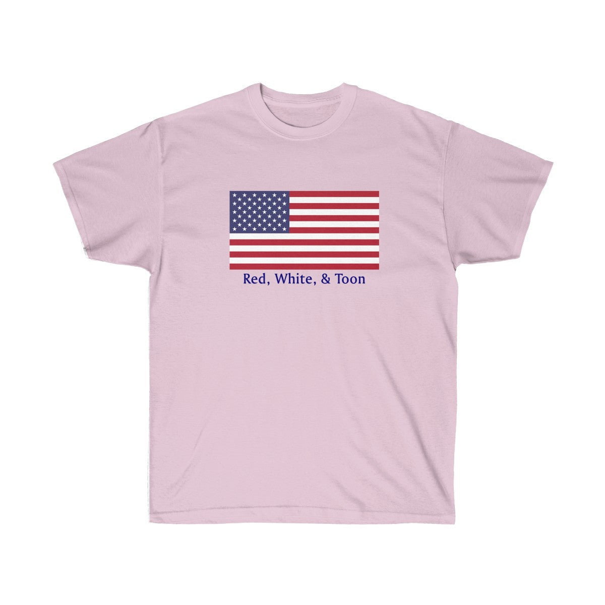 Pontoon Girl - Red White and Toon - Classic American Flag - TWO SIDED T shirt