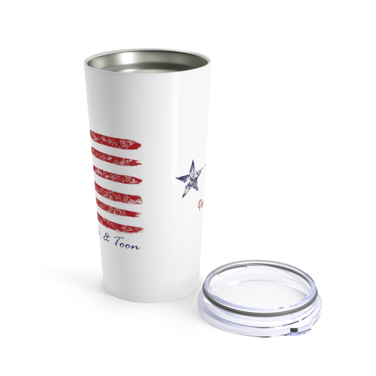 Pontoon Girl Tumbler - Contemporary Flag - Red White and Toon
