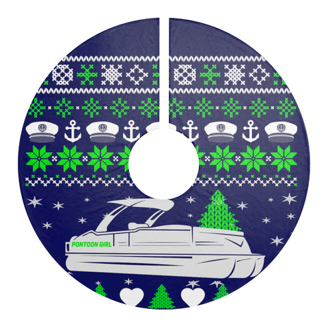 Pontoon Girl Christmas Tree Skirt
