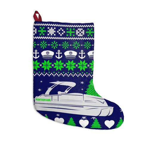 Pontoon Girl Blue Christmas Stockings