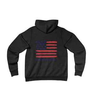 Pontoon Girl - Red White and Toon - Contemporary Flag Hoodie