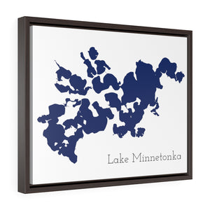 Lake Minnetonka - Party Lakes Collection - Horizontal Framed Premium Gallery Wrap Canvas