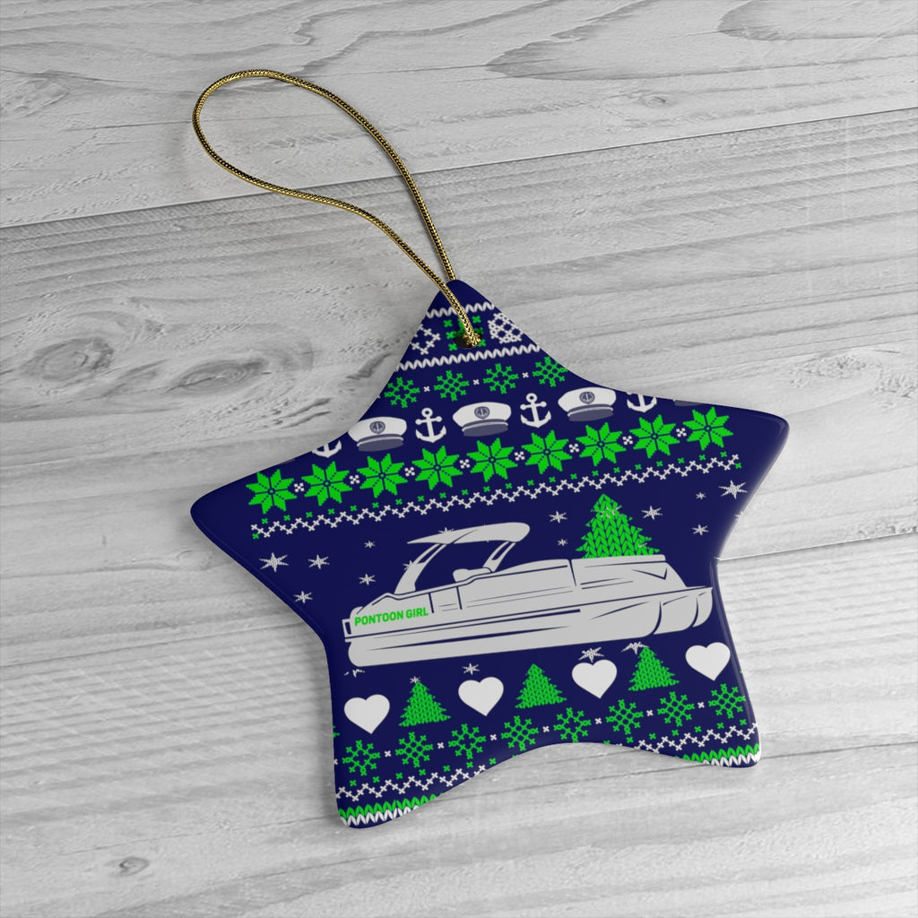 Pontoon Girl Ceramic Ornaments - Star
