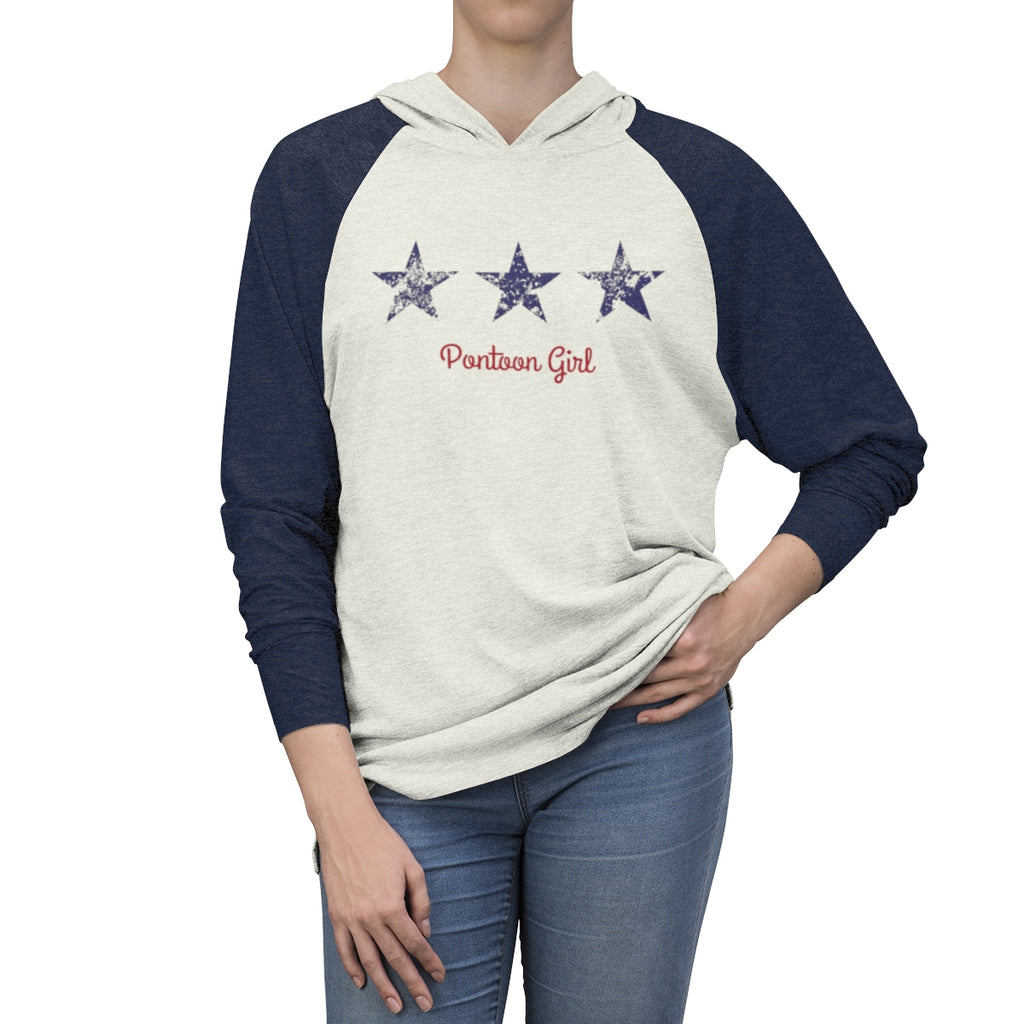 The Perfect Boat Shirt - Red White and Toon - Contemporary Flag - Light Weight Hoodie