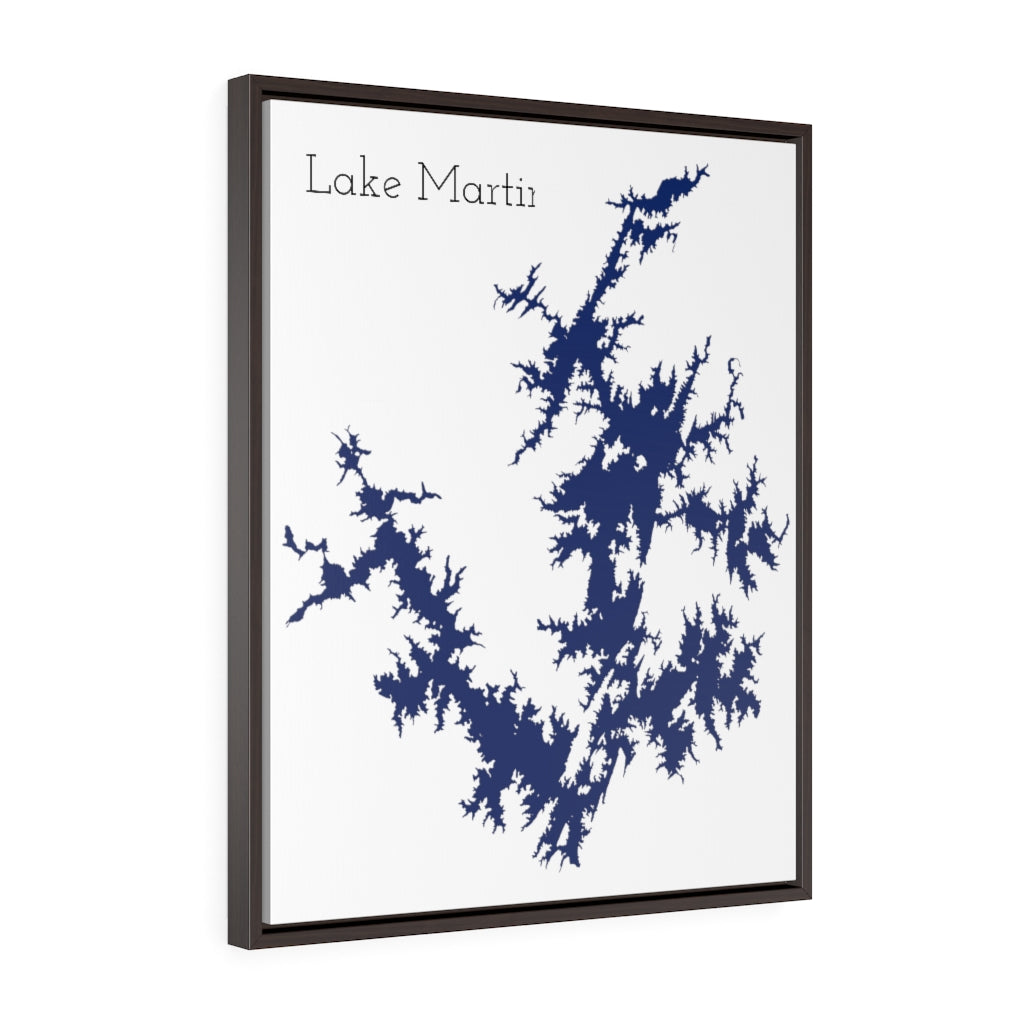 Lake Martin - Party Lakes Collection - Vertical Framed Premium Gallery Wrap Canvas