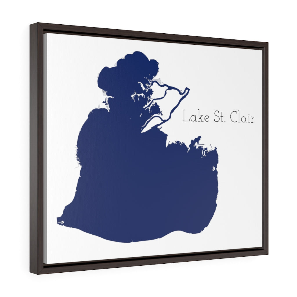 Lake St. Clair - Party Lakes Collection - Horizontal Framed Premium Gallery Wrap Canvas